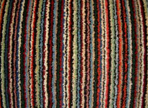 Multi Coloured Striped carpet