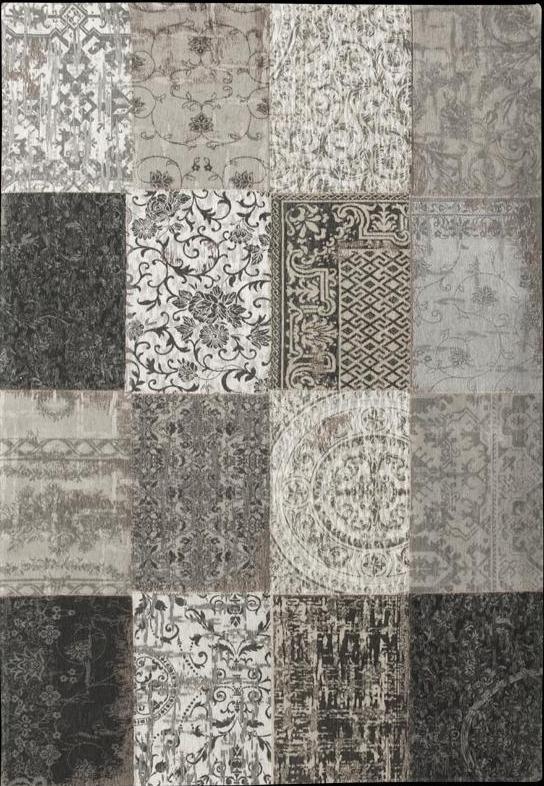 Louis de poortere vintage multi patchwork rugs Tapis vintage patchwork