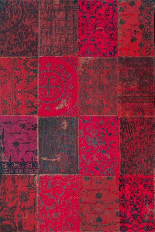 8014 Red Multi Patchwork Rug