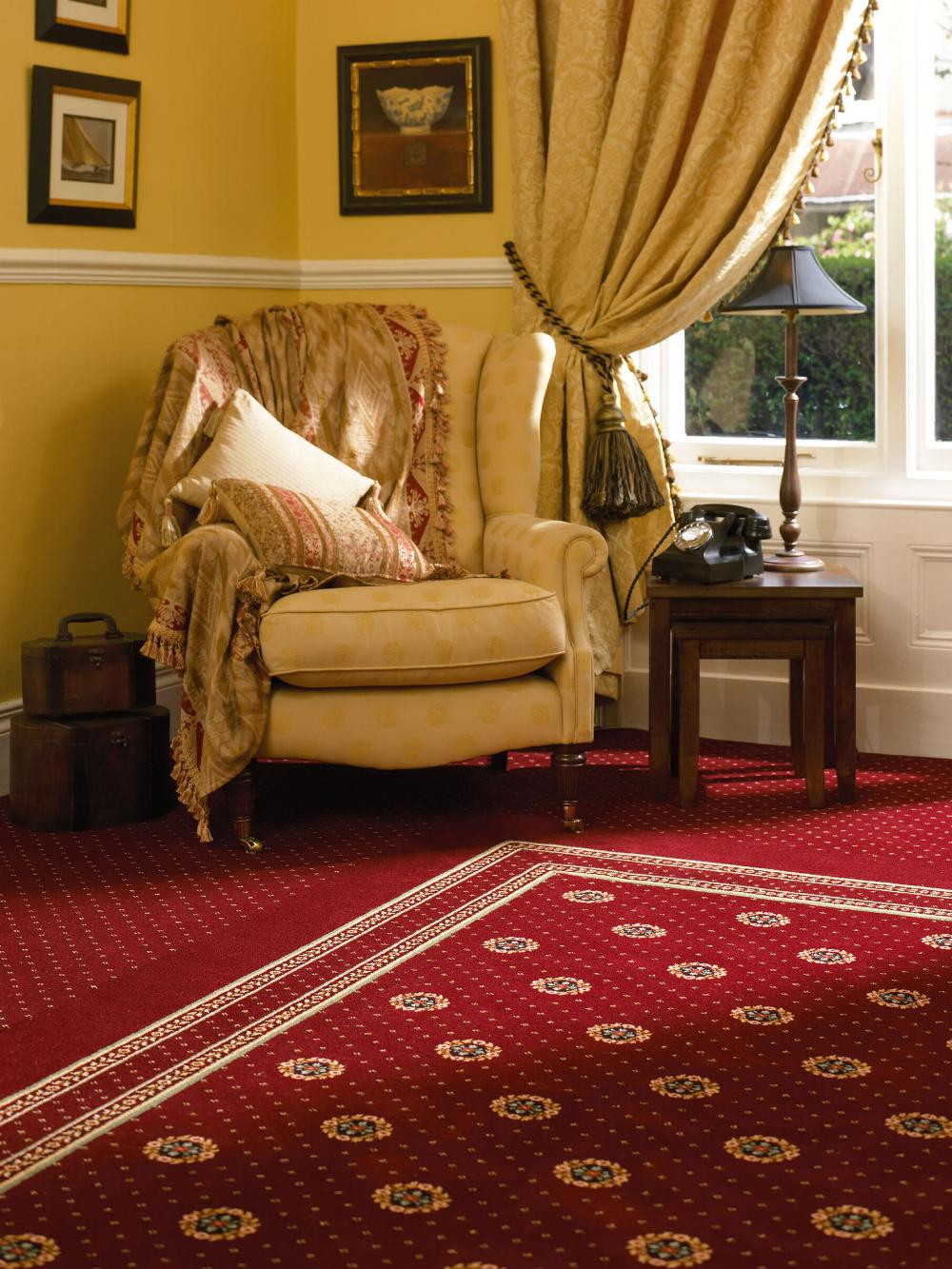 Ulster Carpets Sheriden Bordeaux Cameo 22/2614